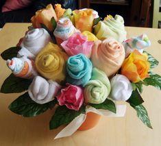 DIY Onesie Bouquet for baby shower!