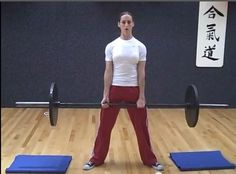 "Powerlifter Nia Shanks deadlifting tips. 1.Have feet wider than shoulder-width apart. 2. Set up close to the bar (shins touching bar) 3.Point feet out at 45 degree. 4. Force your chest out to maintain arch in your lower back. 5.Do not try to ""squat"" the weight up. Your hips are higher on the sumo deadlift than a squat.6. Keep the bar close to your body the entire time – it should run up your shins and then up your thighs. 7. Near the top of the movement, push your hips forward to lock it…"