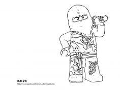 LEGO Ninjago Kai Coloring Pages Lego Ninjago Pinterest
