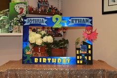 PJ Masks Photo Frame // Personilized Photo Prop // Photo Booth