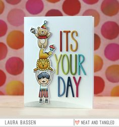 Rainbow order die cut dimensional letters <3 Neat & Tangled-Big Top Birthday & Journaling Alphas