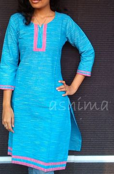 Cotton Kurta-Code:2804150 Rs.690/- All sizes available. Free shipping to all courier destinations in India. Online payment through PayUMoney / PayPal