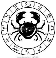 Стоковая векторная графика «Cancer Horoscope Zodiac Sign Silhouette Isolated» (без лицензионных платежей), 1227230011 Cancer Horoscope, Zodiac Signs, Image, Star Constellations, Horoscopes, Zodiac Mind