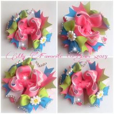 "THIS ONE! Part 1  is a 5"" boutique style hair bow step by step with measurements and easy instructions"