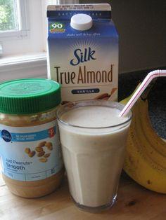 Almond Milk, Peanut Butter & Banana Smoothie by Kara's Favourites