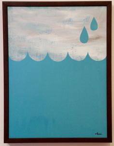 """Drops"" Framed Original by Yusuke Hanai 