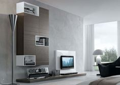 Modern Wall Unit Designs For Living Room With nifty Cool Modern Tv . Living Room Modern, Living Room Designs, Wall Unit Designs, Modern Tv Wall Units, Living Room Storage, Furniture Inspiration, Contemporary Furniture, Modern Contemporary, Home Furniture