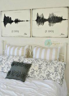 "Sound Wave ""I Do"" Canvas Art Set {customizable}"