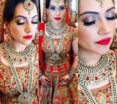Meera my beautiful bride wearing her #Yashbespokejewellery creations....