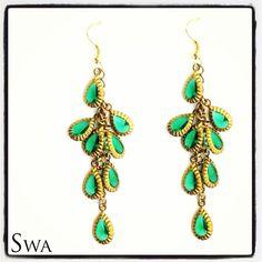 Vintage emerald drop earrings