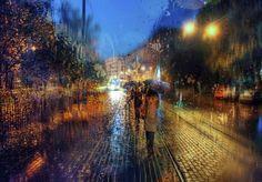 Impresionantes y bellísimas imágenes de San Petersburgo bajo la lluvia