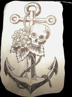4acb49f81 Skull Tattoo Design, Tattoo Designs, Tattoo Ideas, Sugar Skull Tattoos,  Anchor Tattoos