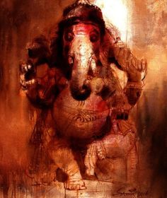 Lord Ganesha ~Watercolor Painting by Samir Mondal on Behance | Paramchaintanya Men