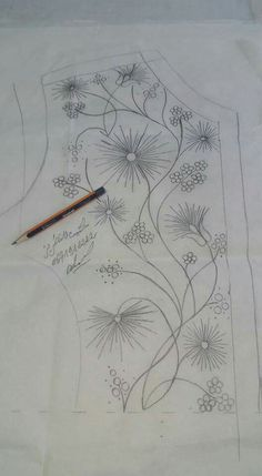 Sewing Embroidery Designs At Home Is Real Fun. Hand Embroidery Dress, Bead Embroidery Patterns, Tambour Embroidery, Hand Embroidery Designs, Embroidery Thread, Floral Embroidery, Beading Patterns, Motifs Perler, Fabric Painting