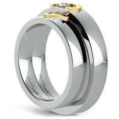 Matching Split Heart Diamond Wedding Ring Set in Platinum and Yellow Gold https://www.brilliance.com/wedding-rings/matching-split-heart-diamond-wedding-ring-set-platinum-yellow-gold