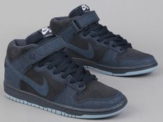 finest selection f39bd 6a129 Nike SB Dunk Mid Pro  Dark Obsidian, Blue   Black Nike Sb Dunks,