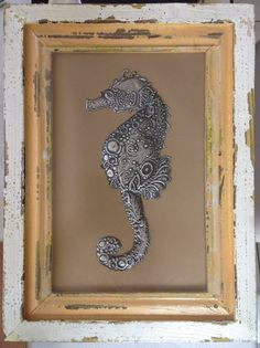 Beautiful seahorse by Lee-Ann made at Pewter Me Blue  www.facebook.com/mimmicgalleryandstudio www.mimmic.co.za