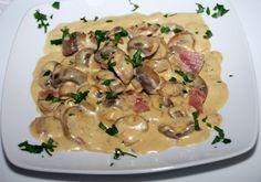 Receitas -Cogumelos com Presunto e Nata Porcini - Roteiro Gastronómico de Portugal