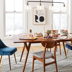 West Elm Dining Chairs, Mismatched Dining Chairs, Metal Dining Chairs, Mid Century Dining Chairs, Mid Century Chair, Upholstered Dining Chairs, Dining Chair Set, Dining Room Table, Dining Area