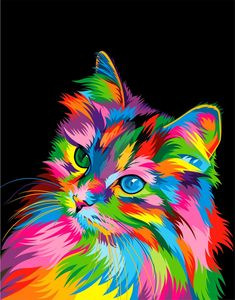 Colorful animal paintings - 40 Best Colorful Paintings Of Animals – Colorful animal paintings Colorful Animal Paintings, Colorful Animals, Cute Animals, Anime Animals, Abstract Animal Art, Animals Crossing, Tableau Pop Art, Cat Drawing, Animal Drawings