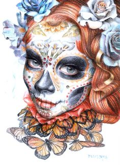 Catrina Cara Mia Limited Edition Archival Art Print by Macsorro, $20.00