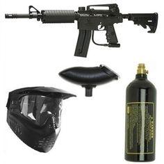 Spyder MRX Paintball Gun Magazine Fed Marker Package