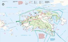 Map of St. John, US Virgin Islands