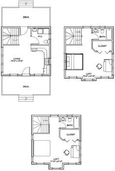 20x20 Tiny House -- #20X20H26 -- 1,079 sq ft - Excellent Floor Plans