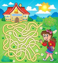 depositphotos_49479967-stock-illustration-maze-4-with-schoolgirl.jpg (935×1024)