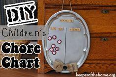 DY Children\'s Chore Chart ~ KeeperoftheHome.org