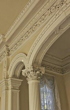 More crown molding Architecture Design, Amazing Architecture, Wall Molding, Crown Molding, Moulding, Classic Interior, Home Interior, Luxury Home Decor, Luxury Homes