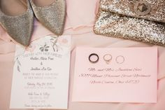 Wedding invites, shoes & rings | Sarah Renee Studios | see more at http://fabyoubliss.com