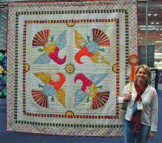 antique pattern...bright colors