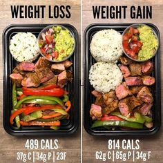Weight Loss vs Weight Gain with Steak Burrito bowls are one of my favorite dishe. Weight Loss vs Weight Gain with Steak Burrito bowls are one of my favorite dishes for meal prep. They check all of the boxes for what makes… Source by Lunch Meal Prep, Healthy Meal Prep, Healthy Snacks, Healthy Recipes, Keto Meal, Healthy Food To Lose Weight, Eating Healthy, Healthy Lunch Ideas, Keto Recipes