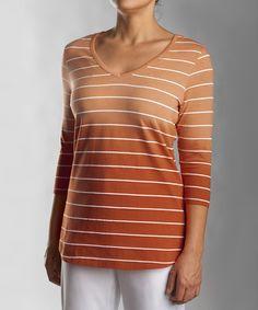 Look what I found on #zulily! Texas Orange Goal Three-Quarter Sleeve Top - Women by Cutter & Buck #zulilyfinds