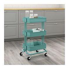 RÅSKOG Utility cart, turquoise - IKEA