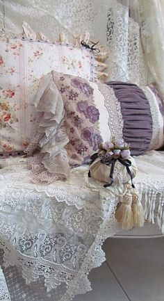 cushions and pillows shabby chic