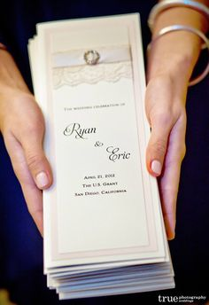 Lace Wedding Programs by Lavender Paperie