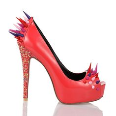 spiked high heel pumps   New ladies fashion women high heels spiked party pumps shoes