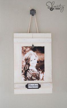 DIY Hanging Clip Frames by Shanty2Chic