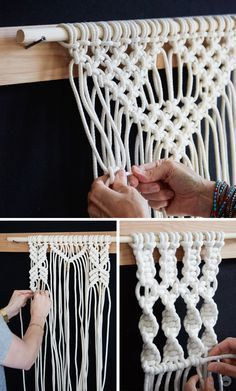 What better way to spruce up a blank boring wall than with a gorgeous piece of homemade artwork? Macramé has taken the crafting world by storm and so long as you've got an excess of sturdy cord and the patience to learn to knot, you can create a one-of-a-kind piece for your own home. Check out this workshop featured on Think.Make.Share., a blog from the creative studios at Hallmark, and then start dreaming up your very own DIY wall art to add to your home decor!