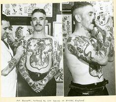 «Art Basset, Tattooed by Les Skuse of Bristol, England»