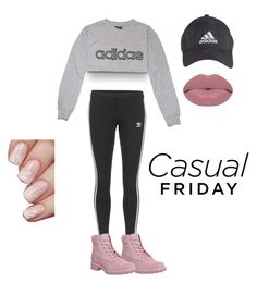 """""""Casual Friday"""" by likiya ❤ liked on Polyvore featuring adidas, adidas Originals, Timberland and Winky Lux"""