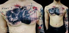 heart tattoo chest - Pesquisa Google