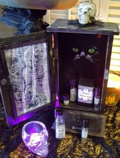 Witches Apothecary Cabinet with Potions by DsDreams on Etsy #ButterflysPin