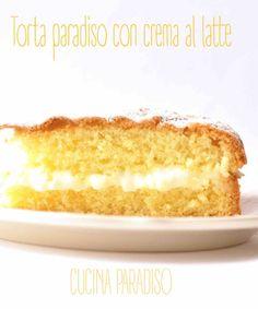 Torta paradiso con crema al latte #cucinaparadiso #torta #paradiso #crema #latte #milkcream