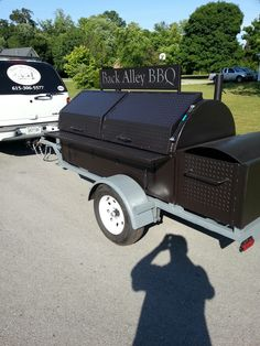 TS-Traditional Get that great over the coal cooking experience like you get with an old school brick and mortar pit, great for catering #smoker #bbq #grill Bbq Pit Smoker, Bbq Grill, Barbecue, Custom Smokers, Custom Bbq Pits, House Information, Welding Ideas, Bbq Ideas, Brick And Mortar