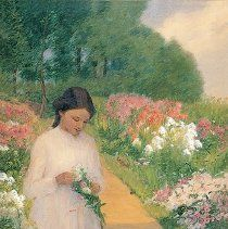 Image of Mina Ochtman, Girl in the Garden, ca. 1890-1900