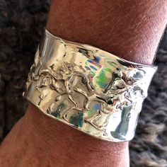 One of a kind solid sterling silver cuff cast with the lost wax method by Marcela Ganly Lost Wax Casting, Sterling Silver Bracelets, Belt Buckles, Cuff Bracelets, Cuffs, Jewelry, Jewlery, Arm Warmers, Jewerly
