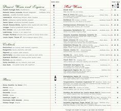 Wine Menu Wine List, Berries, Menu, Bar, Image, Design, Ideas, Graphic Design, Menu Board Design
